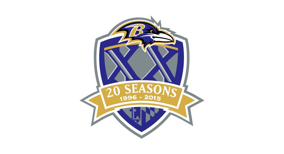 Baltimore Ravens 20 Seasons Logo