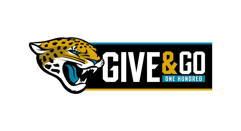 Jacksonville Jaguars Give & Go 100 Program Logo