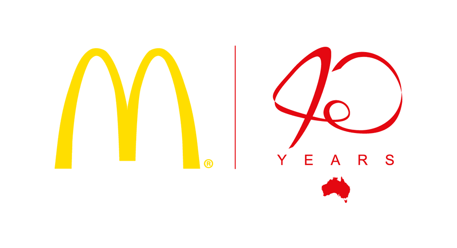 McDonald's in Australia 40 Years Logo