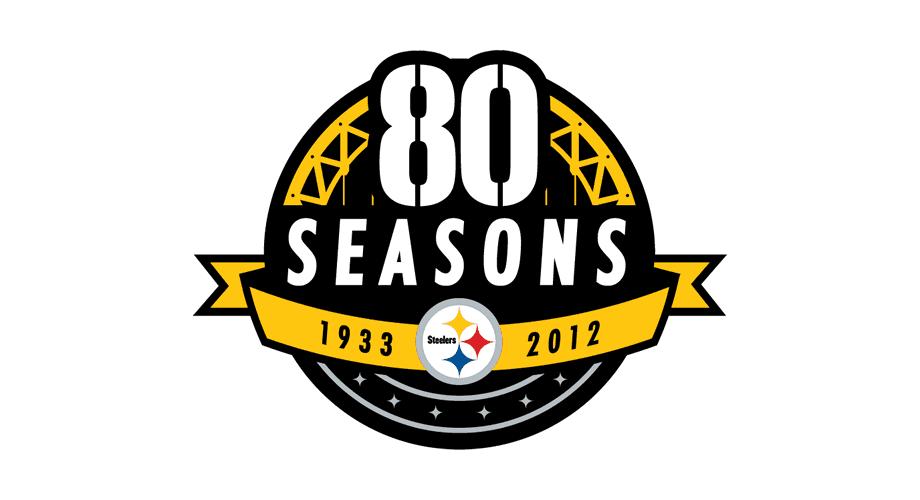 Pittsburgh Steelers 80 Seasons Logo