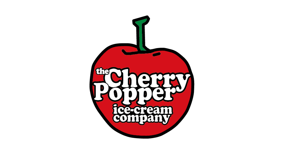 the Cherry Popper ice-cream company Logo
