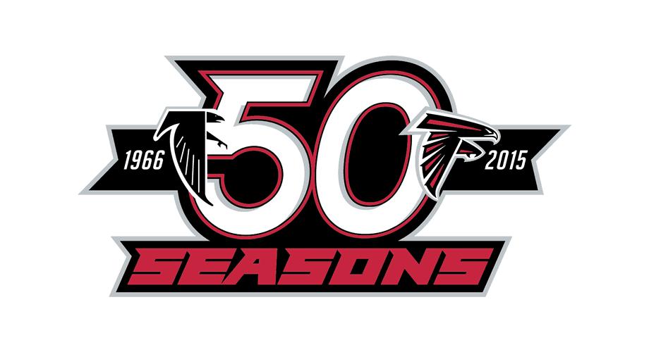 Atlanta Falcons 50 Seasons Logo