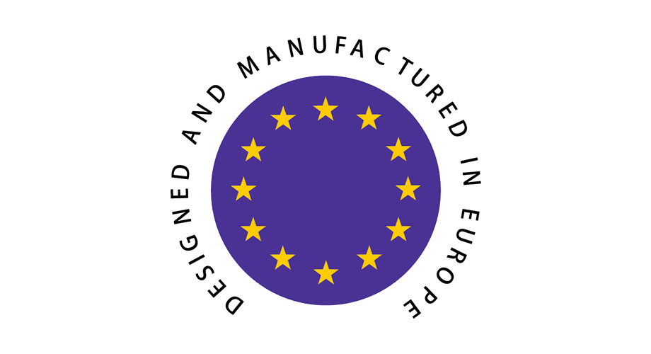 Designed and Manufactured in Europe Logo