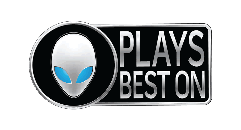 Plays best on Alienware Logo