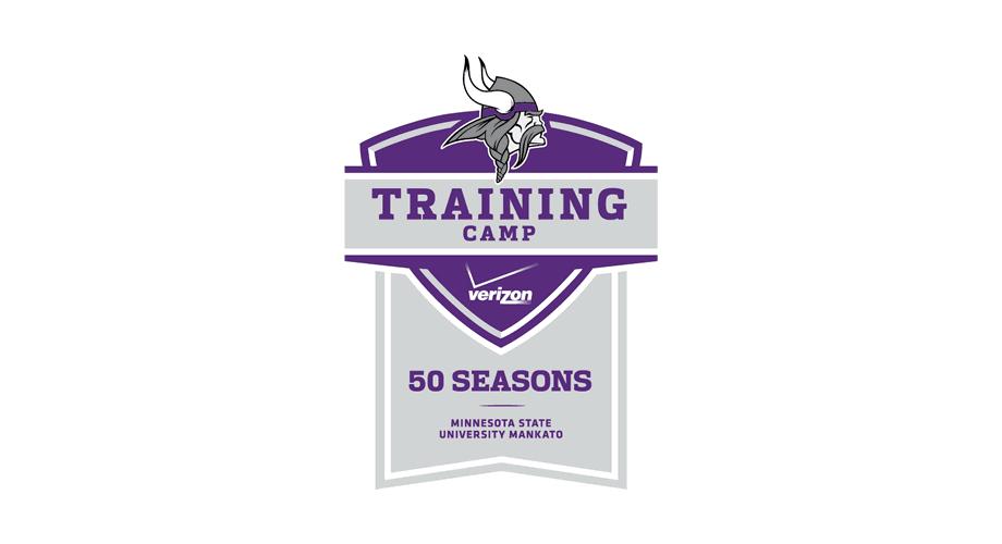 Verizon Vikings Training Camp 50 Seasons Logo