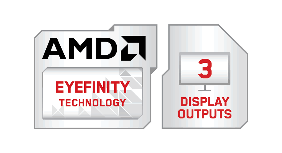 AMD Eyefinity Technology with 3 Display Outputs Modifier Logo