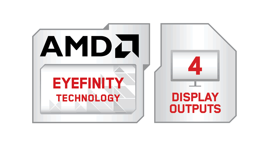 AMD Eyefinity Technology with 4 Display Outputs Modifier Logo