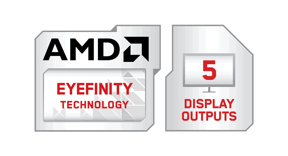 AMD Eyefinity Technology with 5 Display Outputs Modifier Logo