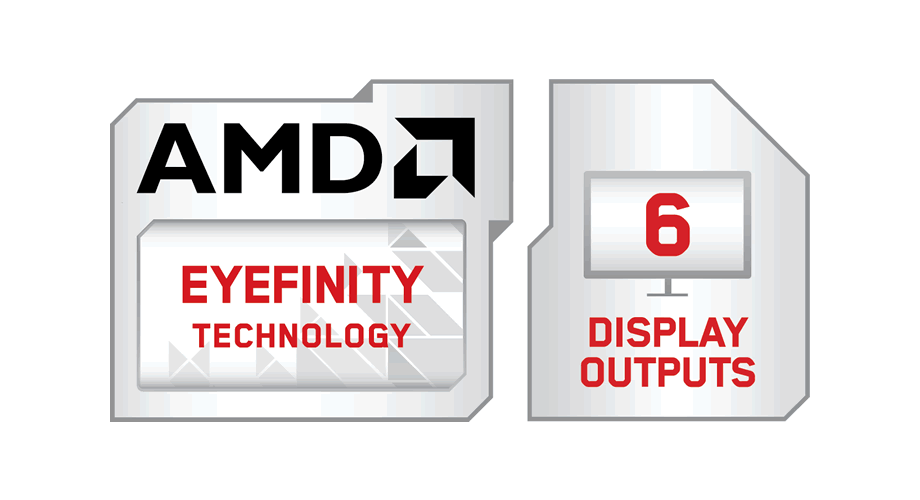 AMD Eyefinity Technology with 6 Display Outputs Modifier Logo