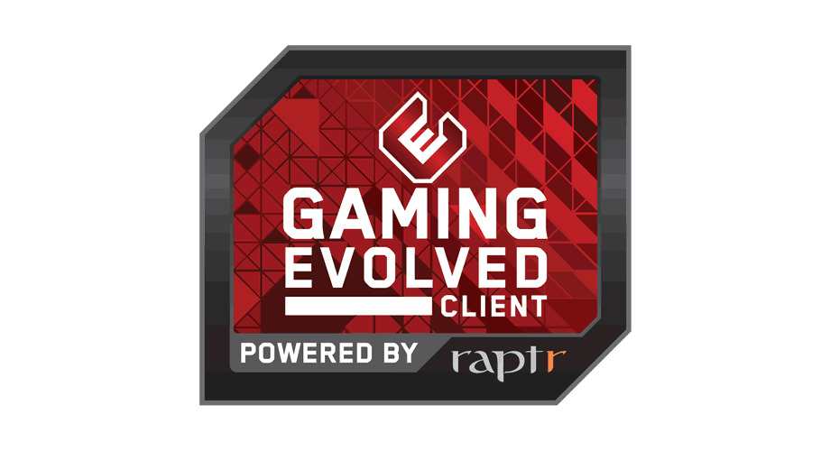 Gaming Evolved Client powered by Raptr Logo