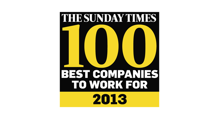 The Sunday Times 100 Best Companies To Work For 2013 Logo
