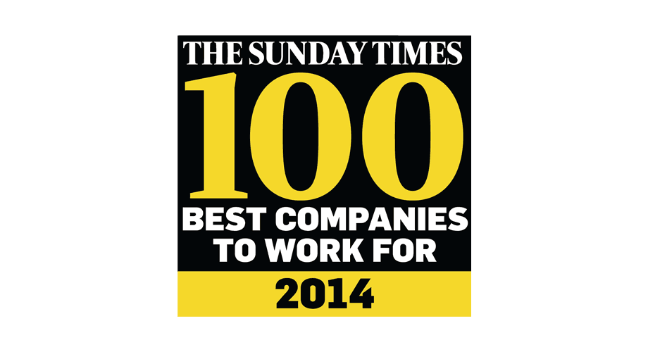 The Sunday Times 100 Best Companies To Work For 2014 Logo