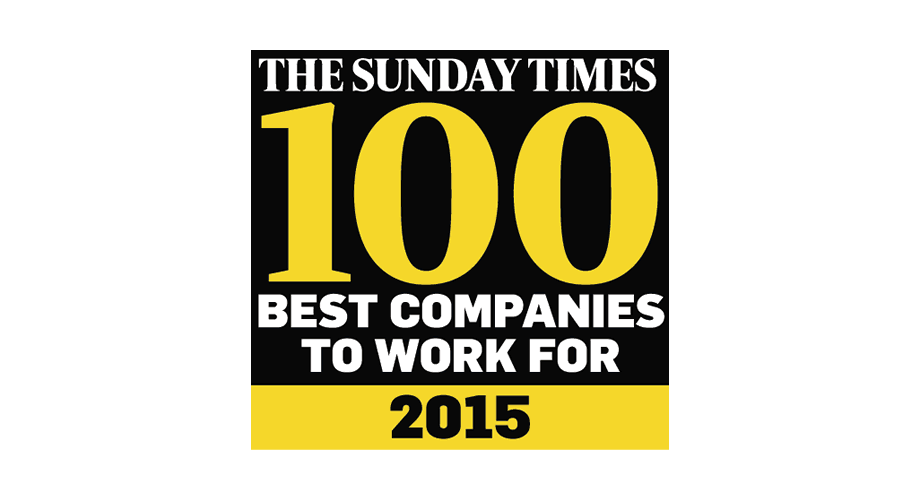 The Sunday Times 100 Best Companies To Work For 2015 Logo