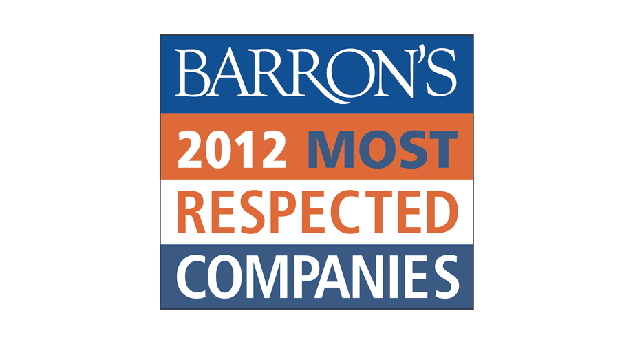 Barron's 2012 Most Respected Companies Logo
