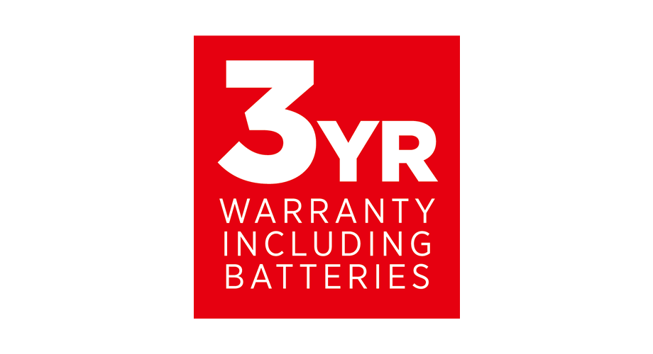 3YR Warranty Including Batteries Logo