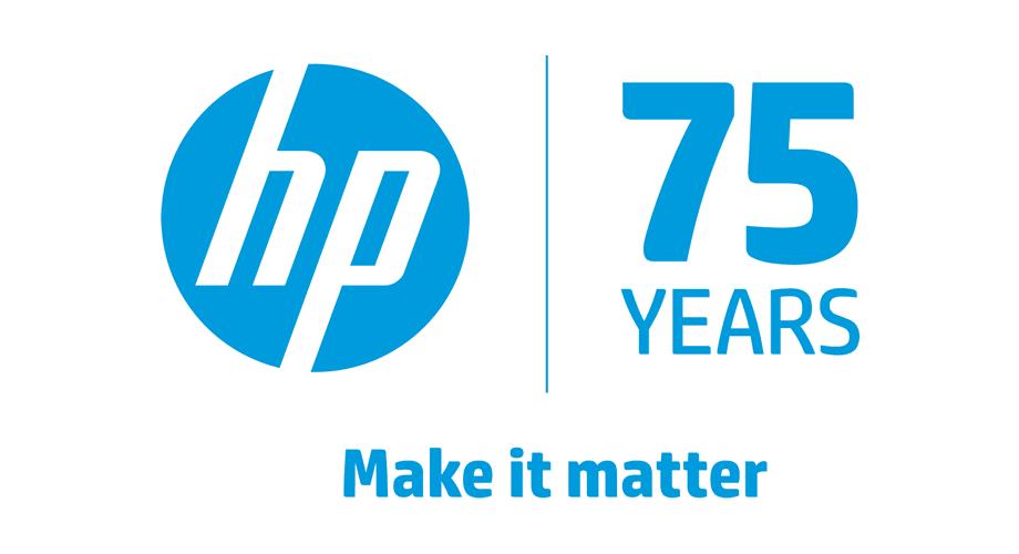 HP 75 Years Logo