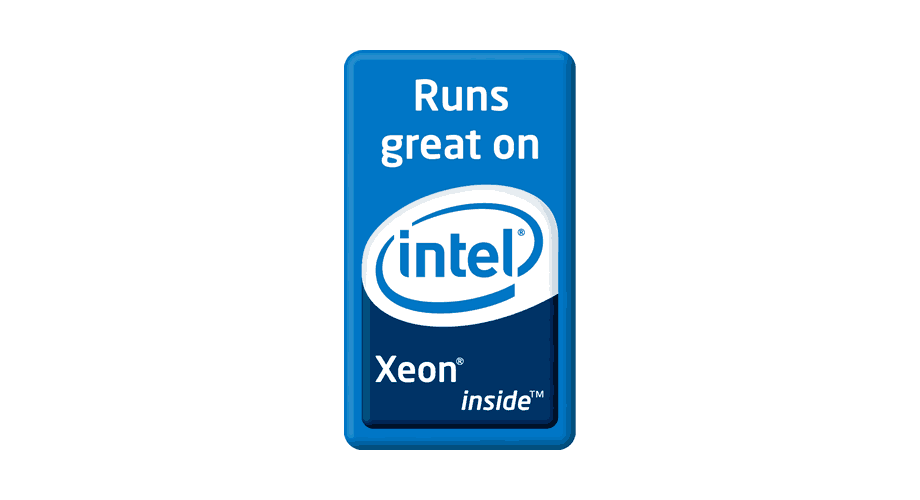 Runs great on Intel Xeon inside Logo