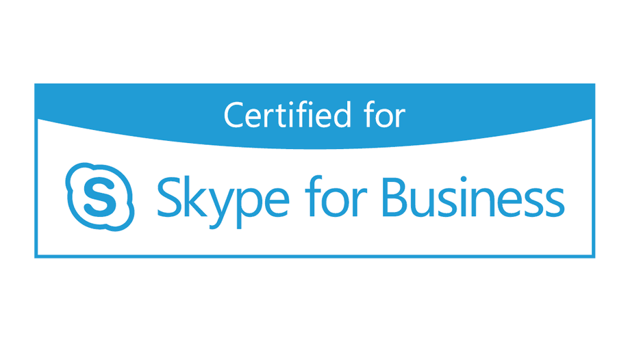 Certified for Skype for Business Logo
