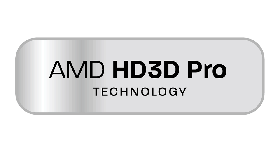 AMD HD3D Pro Technology Logo