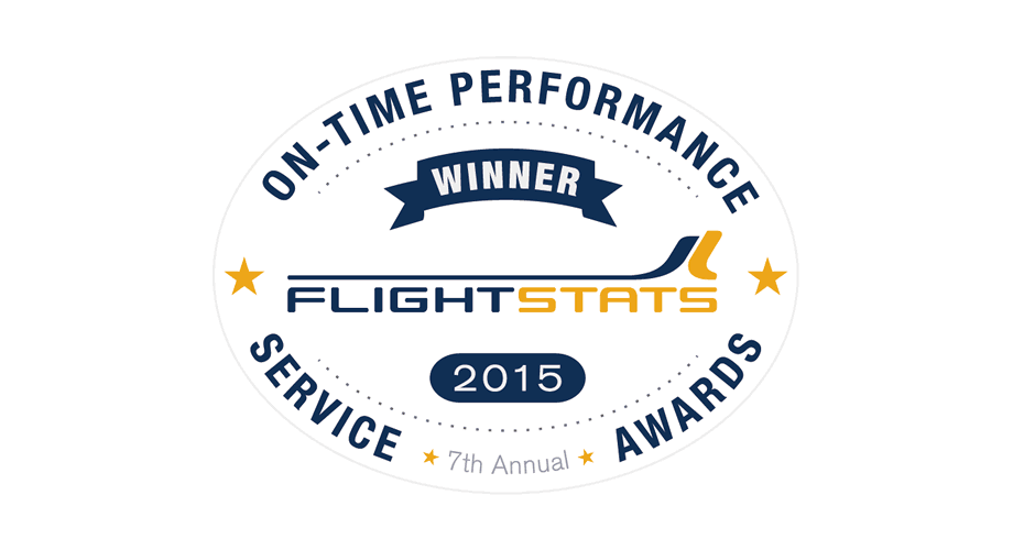 FlightStats On-time Performance Service Awards 2015 Winner Logo